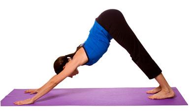 Posture de Yoga: Chien tête en bas