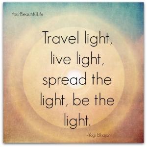 citation de Yogi Bhajan, fondateur du Kundalini Yoga concernant la lumière