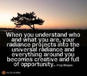 citation de yogi Bhajan fondateur du Kundalini Yoga sur la compréhension de soi