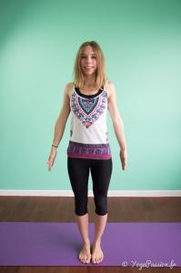 "Posture de Yoga: la montagne ""Tadasana"""