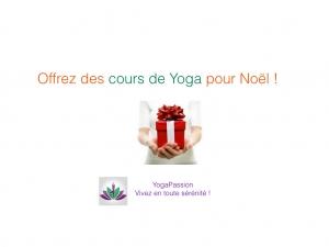 offrir du Yoga à Noël